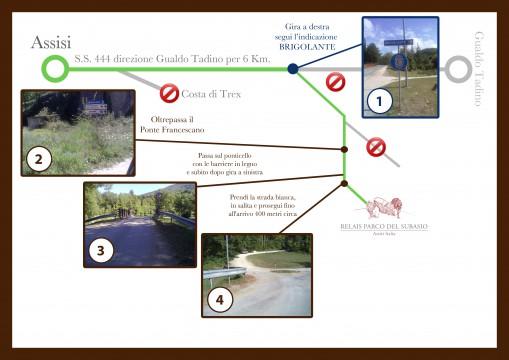 Relais Parco del Subasio | Agriturismo Assisi - Come Arrivare